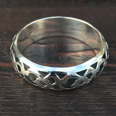 Marrakesh Wide Bangle - Sterling Silver Bangle