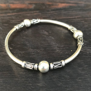 'Borobudur' Sterling Silver Balinese Bangle