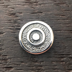 Circular Design Textured Sterling Silver Pendant