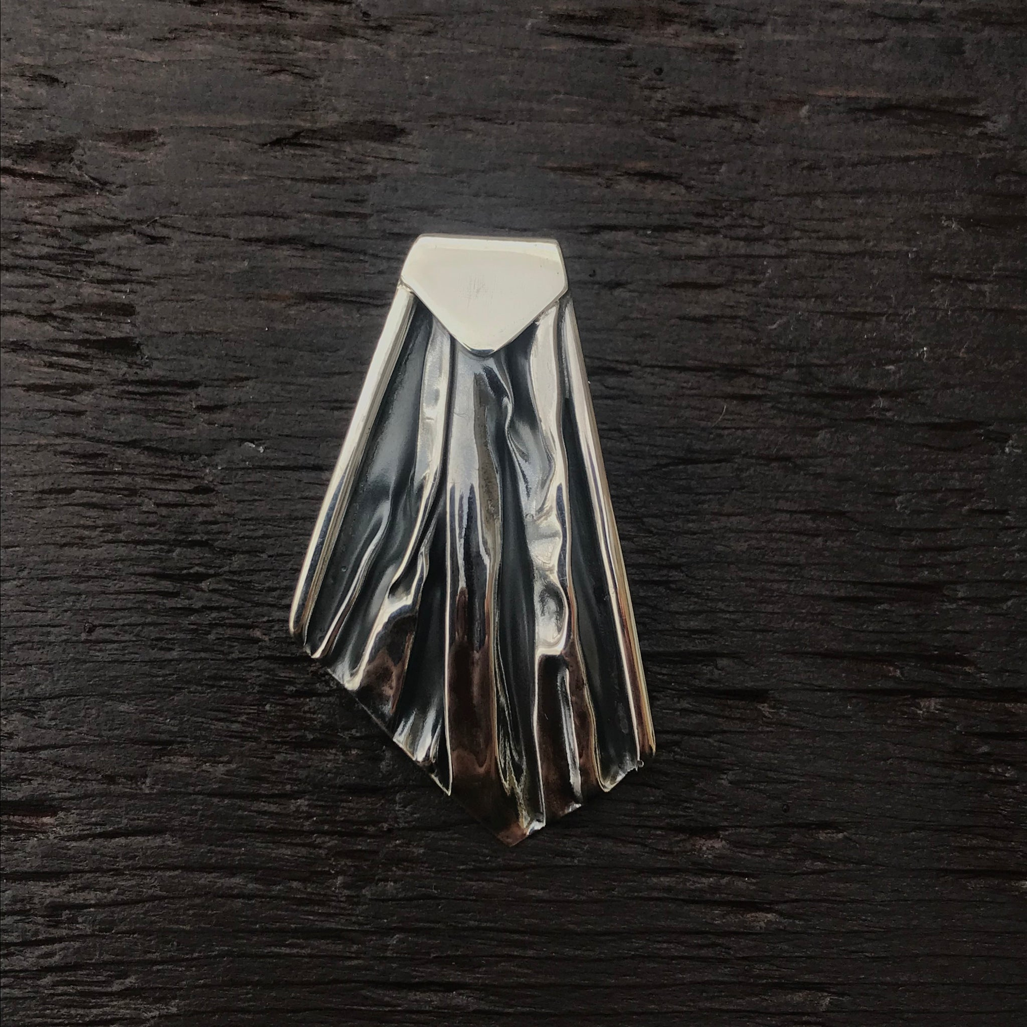 'Rocks' Abstract Fan Sterling Silver Pendant