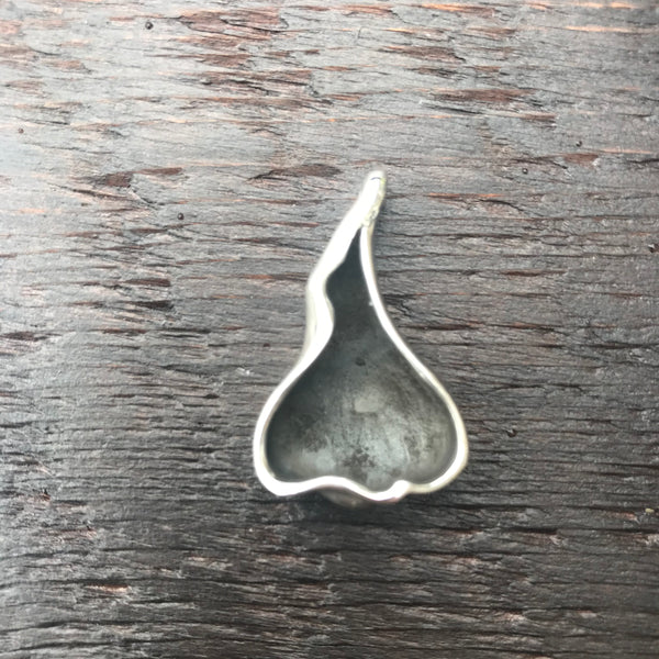 'Luna' Abstract Design Sterling Silver Pendant