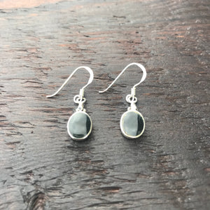 Black Onyx Mini Sterling Silver Drop Earrings