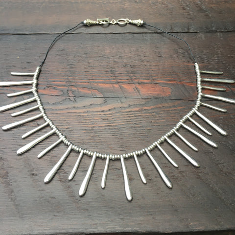 'Tribal' Design Silver Alloy Necklace
