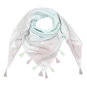 Shiny Blocks Scarf (Mint)