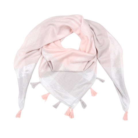 Shiny Blocks Scarf (Pink)