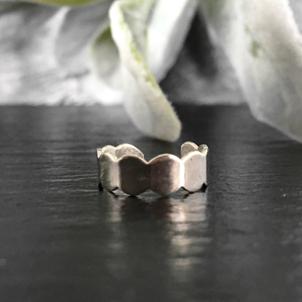 'Ripples' Sterling Silver Toe Ring