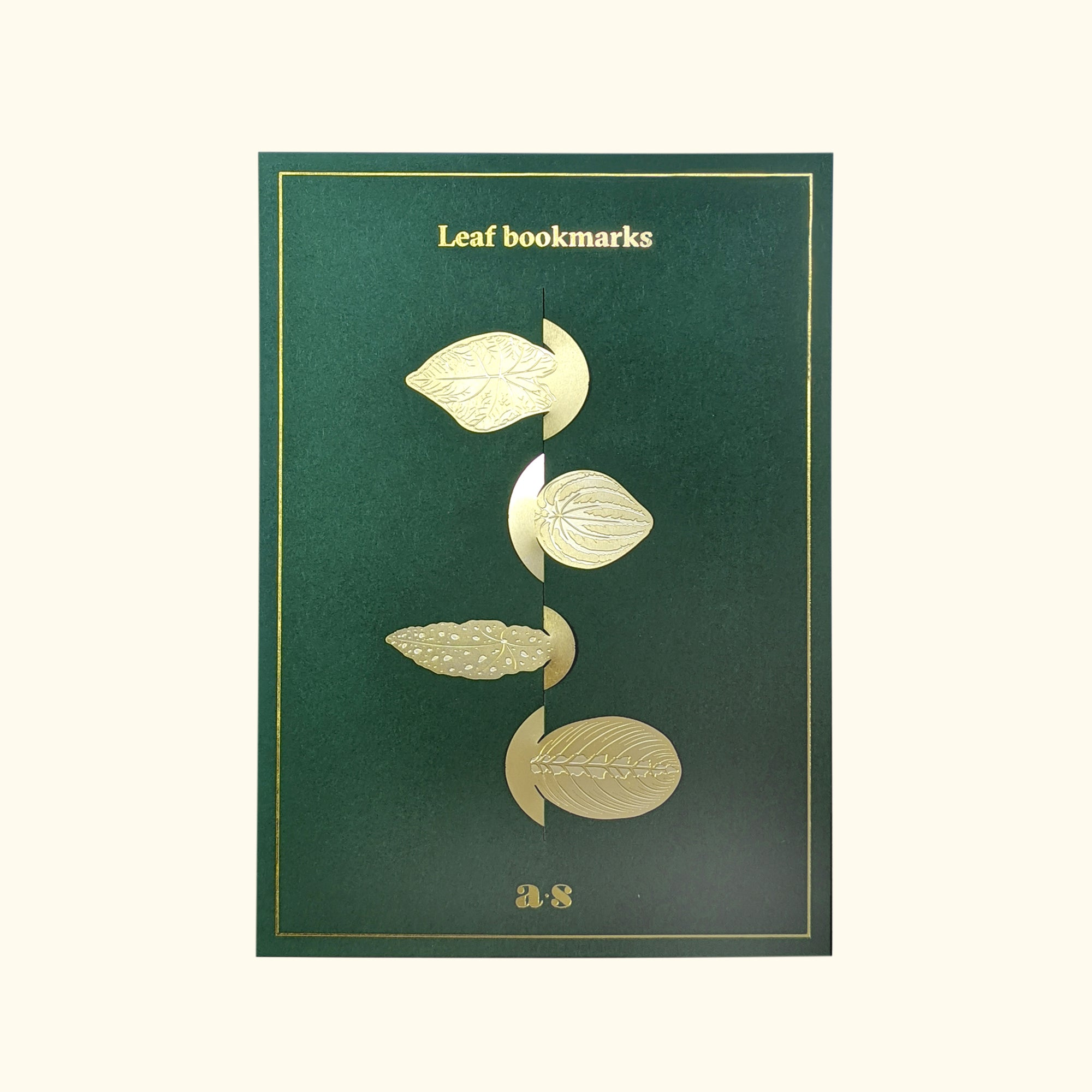 Leaf Bookmark Set - Brass