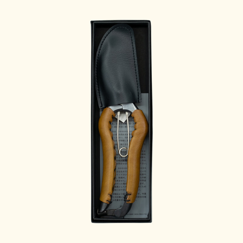 SYU Secateurs with Camel Leather Trim