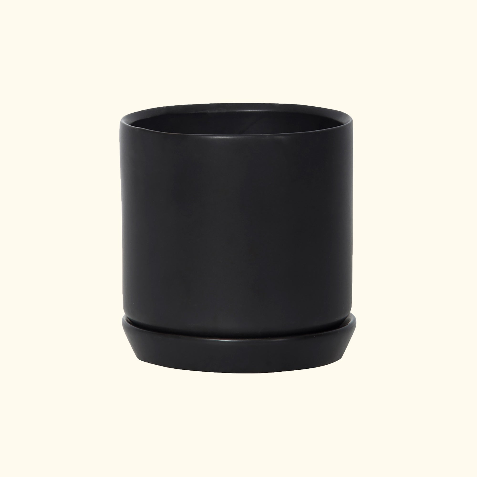 Small Oslo Planter Jet Black
