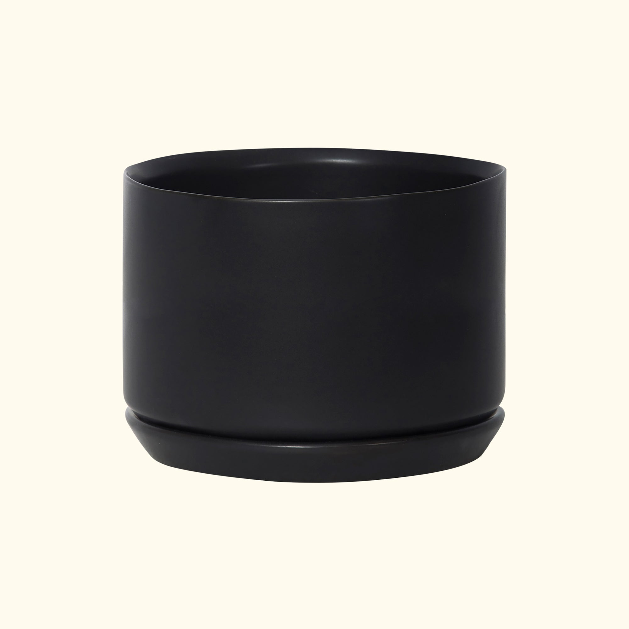 Wide Oslo Planter Black
