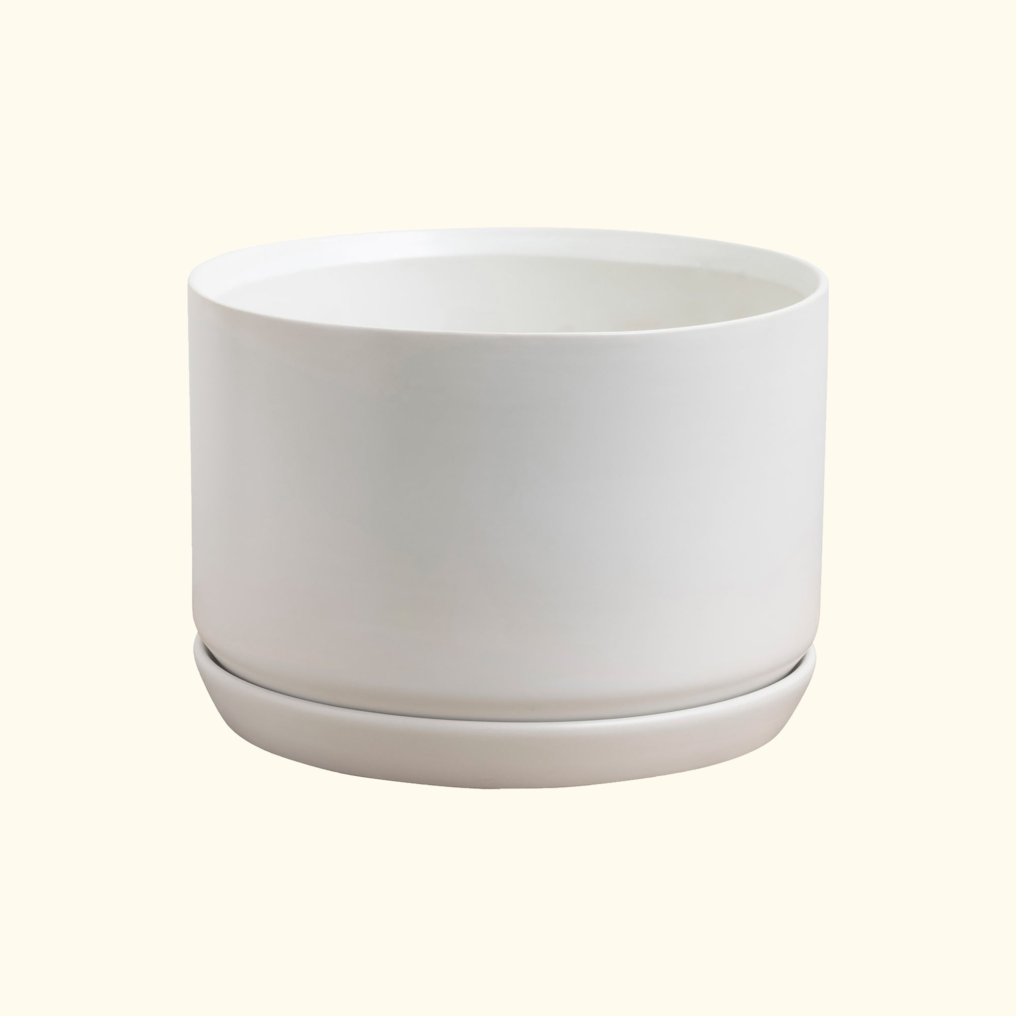 Wide Oslo Planter White