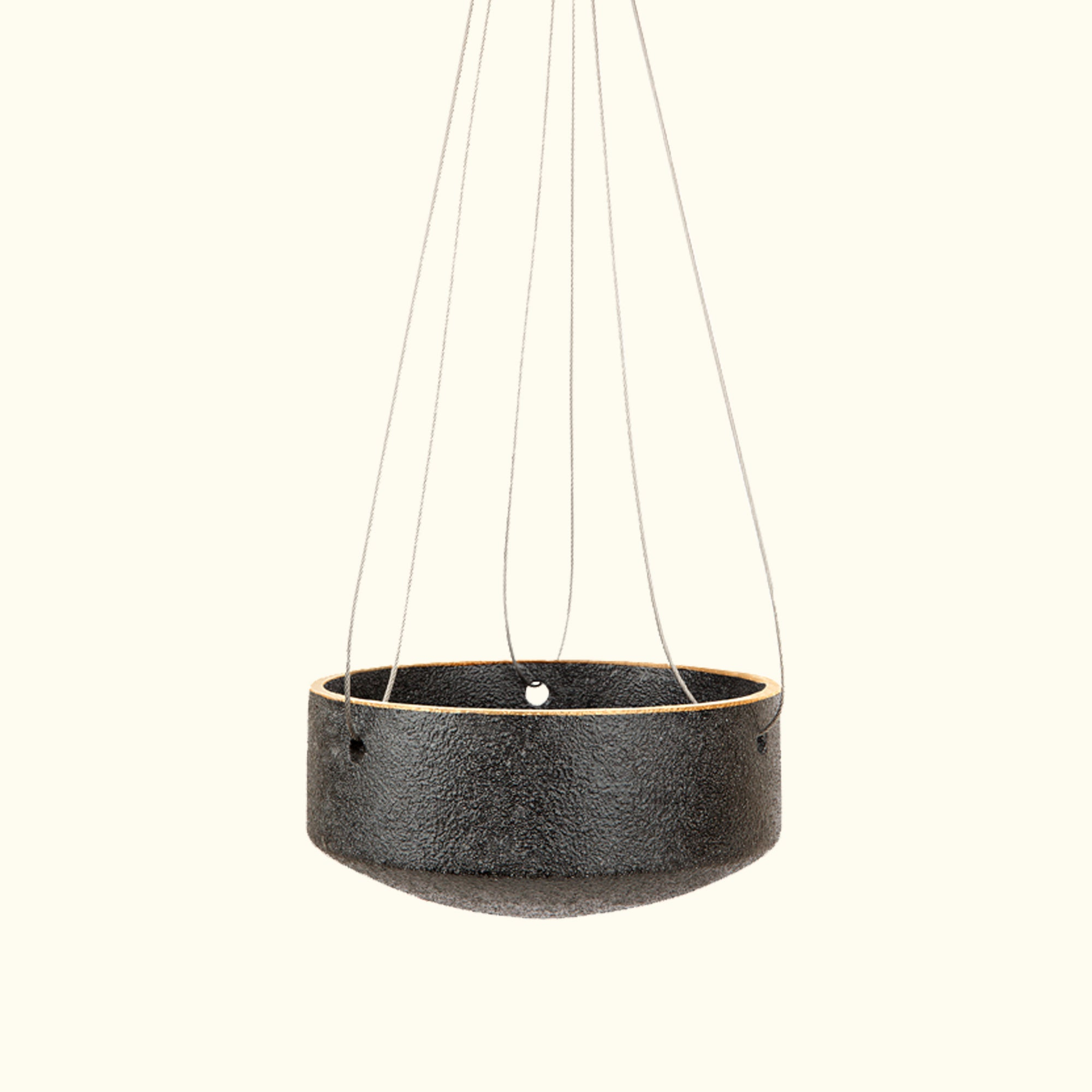 Small Embers Hanging Planter - Charred