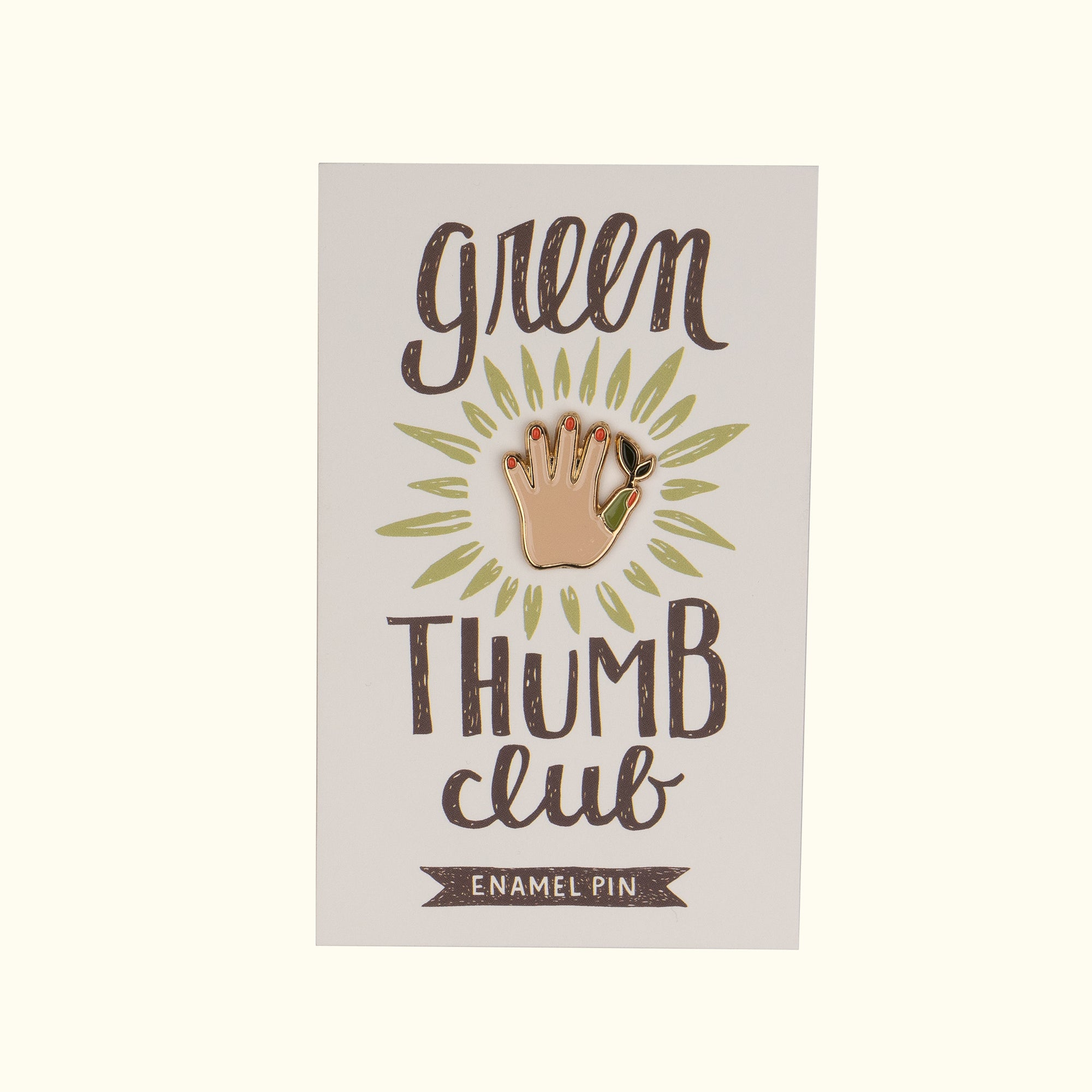 Green Thumb Club Pin