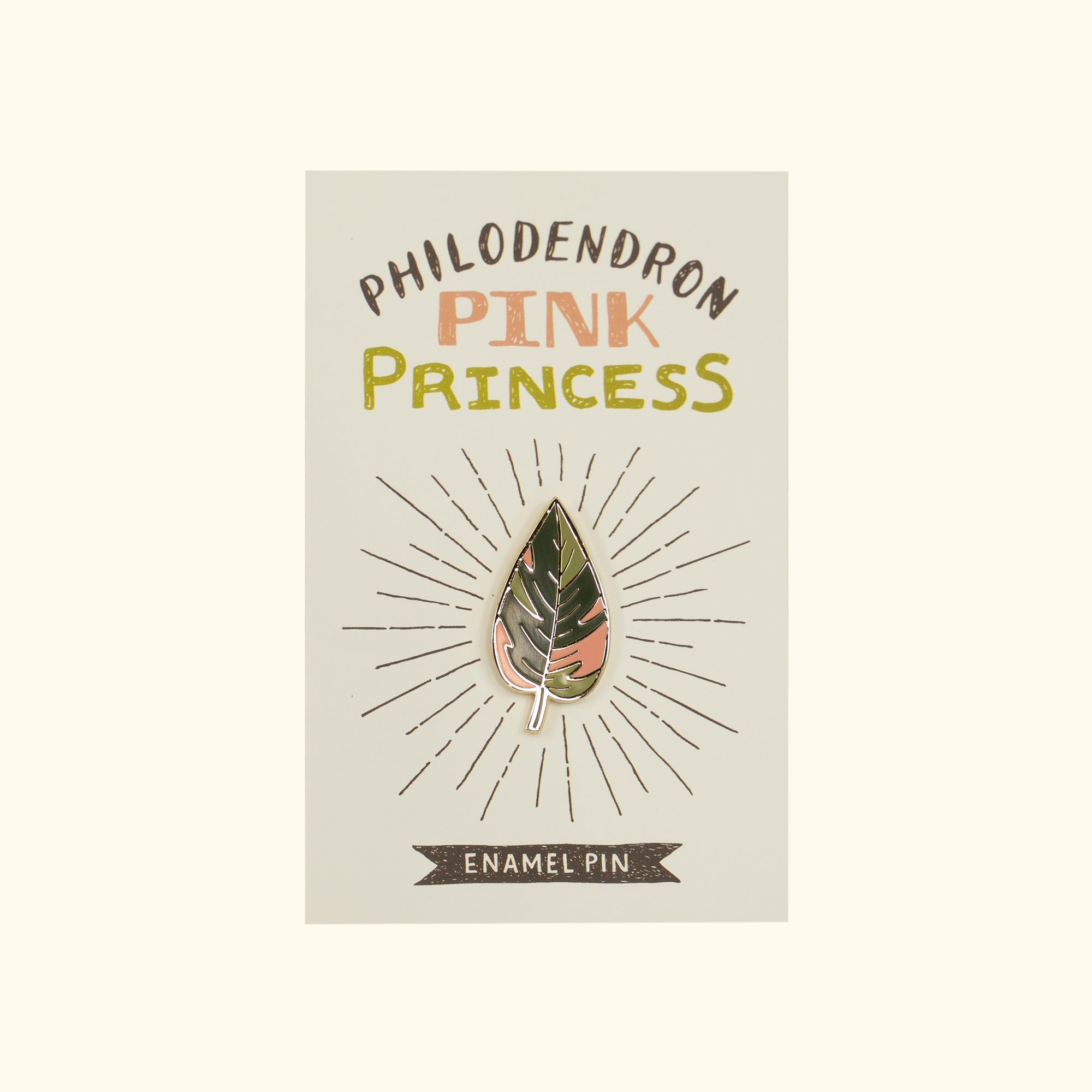 Pink Princess Philodendron Enamel Pin