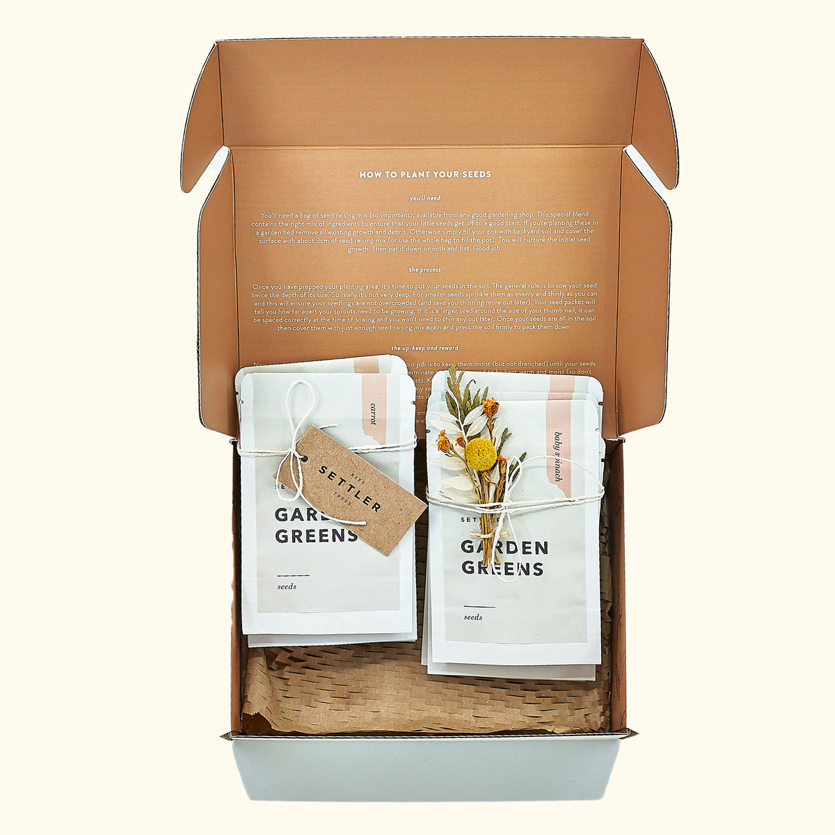 Settler Hives Garden Greens Seed Set