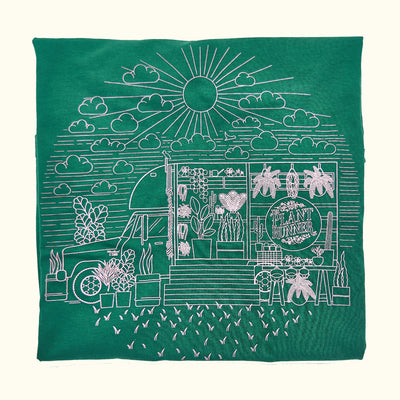 'Fern in the Sun' Plant Runner Womens Tee - Forrest Green