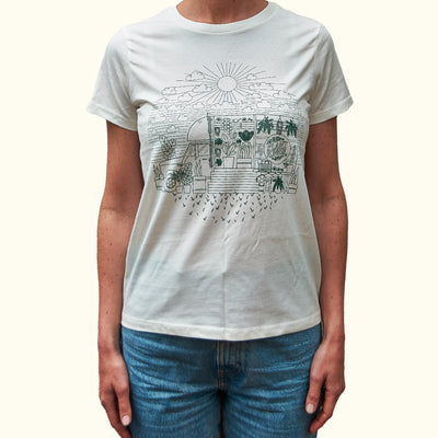 'Fern in the Sun' Plant Runner Womens Tee - White