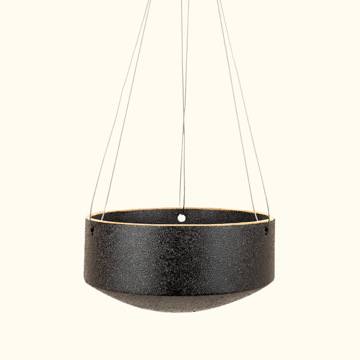 Large Embers Hanging Planter - Charred