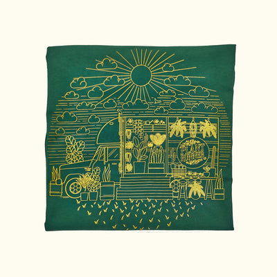 'Fern in the Sun' Plant Runner Mens Tee - Forrest Green