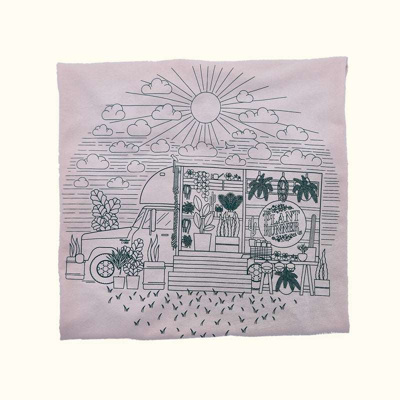 'Fern in the Sun' Plant Runner Womens Tee - Pink