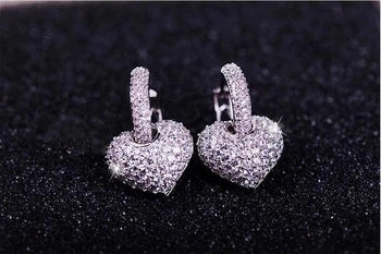 Heart design top quality earrings