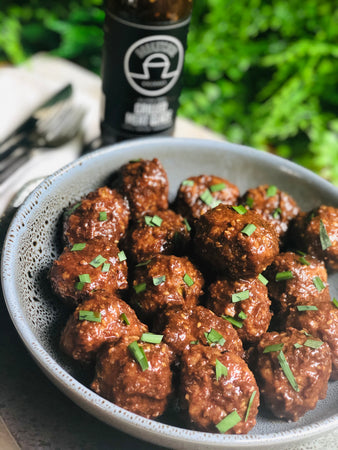 Grilled Meat Glazed Meatballs