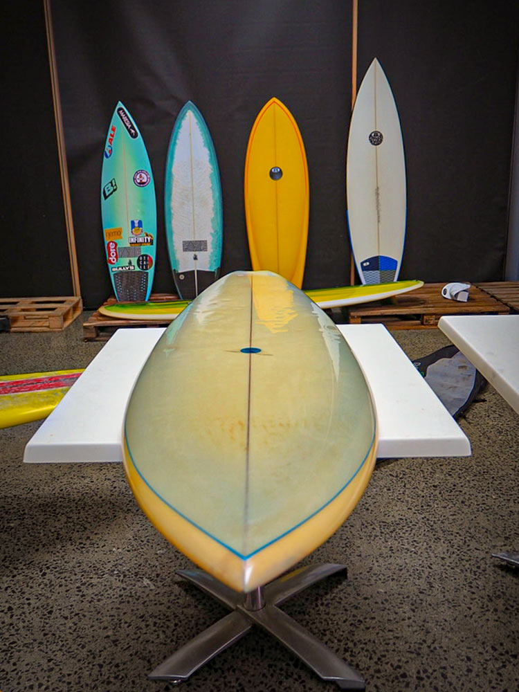 surfboards at the north west boardriders vissla shapers shack