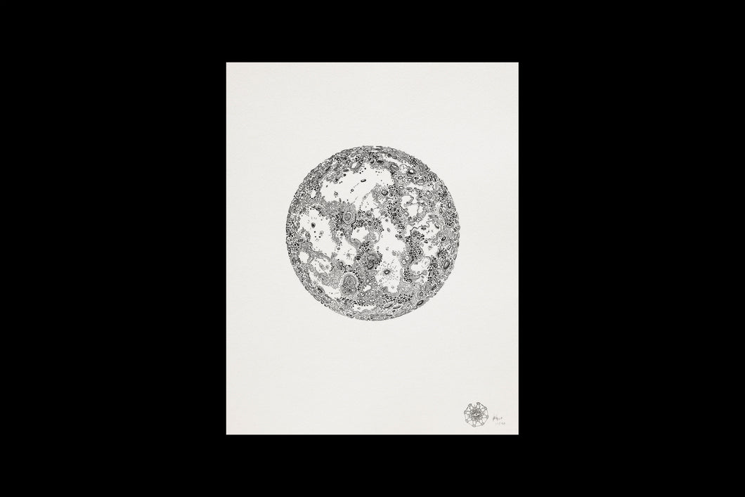 Silkscreen of the moon