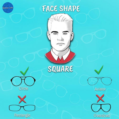 f70727318e6 How To Choose Eyeglasses For Square Face Shapes - Eyewearlabs.com