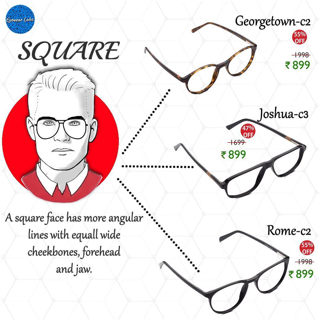 ea854e92ef Keep the above-mentioned tips in mind while you are purchasing eyeglasses  for square shaped face and ...