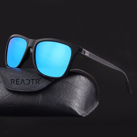 Barkley Blue (Biker's Mirror) Reactr Sunglasses - Eyewearlabs
