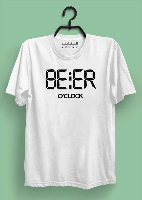 BEER O CLOCK Reactr Tshirts For Men - Eyewearlabs