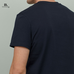 Navy Blue Round Neck Solid T-Shirt Eyewearlabs - Eyewearlabs