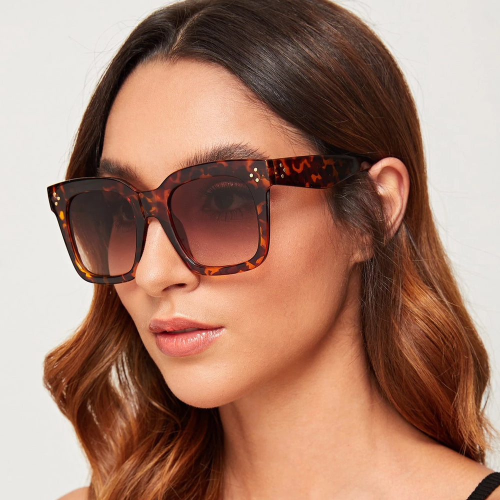 Black Widow Leopard Sunglasses For Women