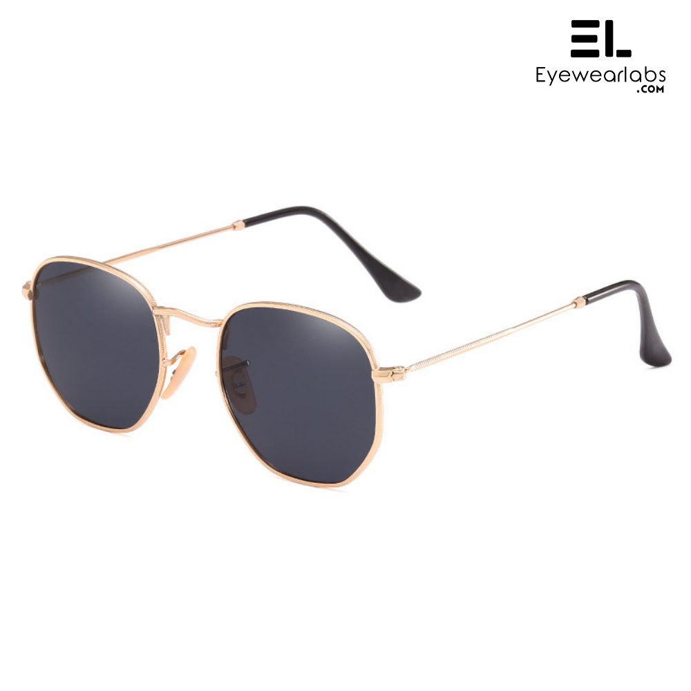 Knight Black Gold Sunglasses For Men