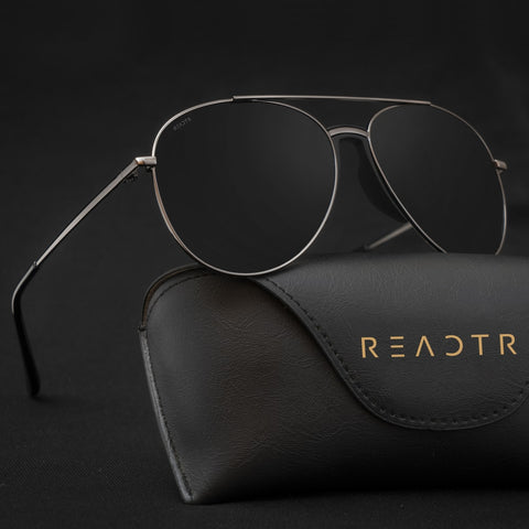 Ethereal Black Reactr Sunglasses