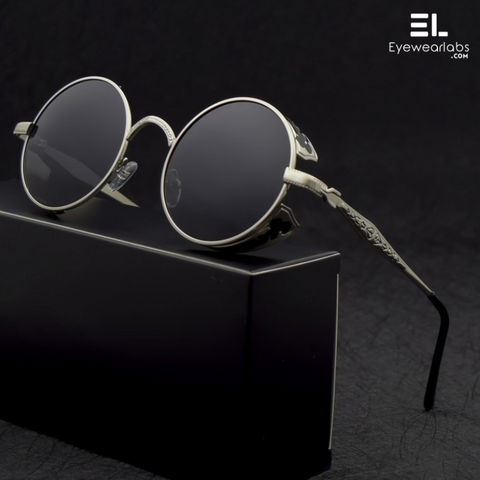 Devil's Eye Black Silver Reactr Sunglasses