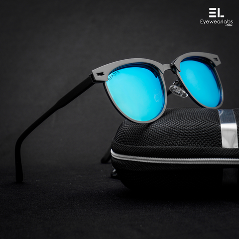 Bane Blue Gun Grey Reactr Sunglasses For Men - Eyewearlabs