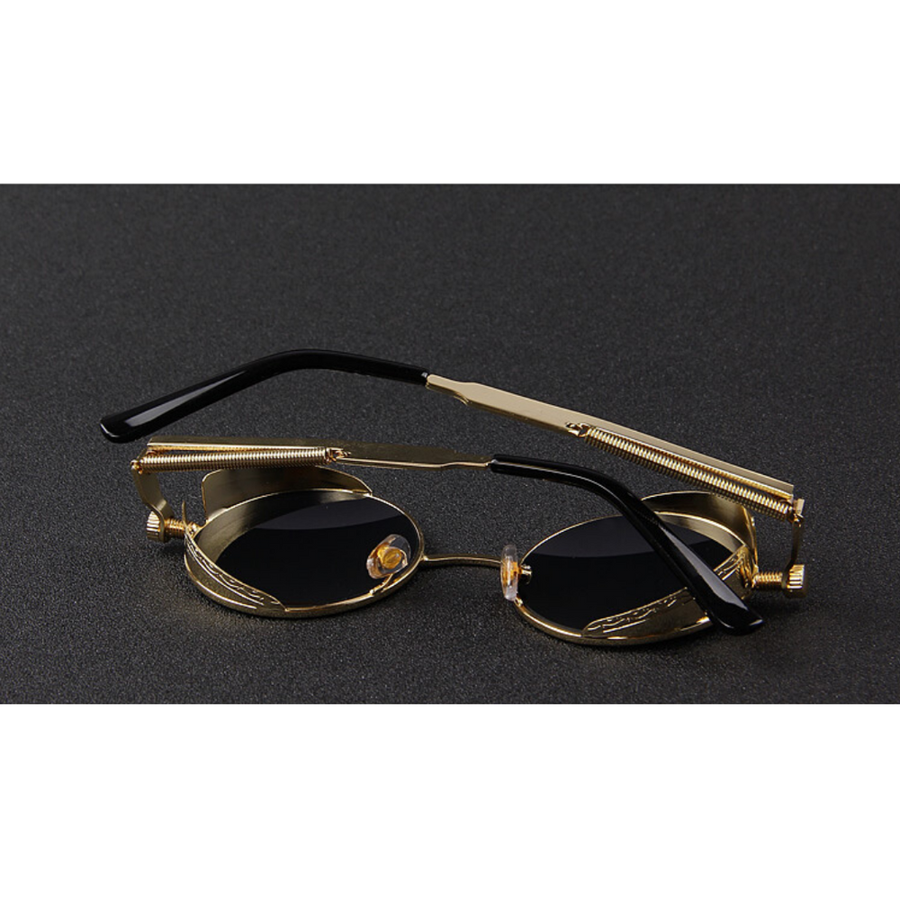 Wilcox Black Gold Sunglasses For Men