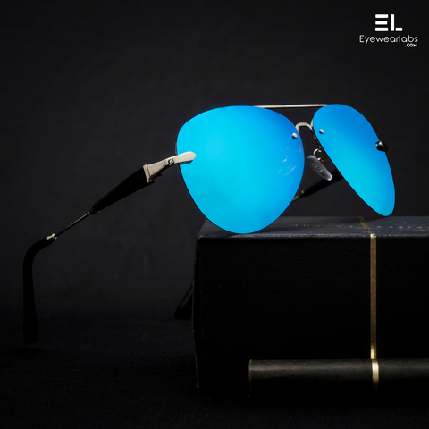 Rogue Silver Blue Reactr Sunglasses for Men