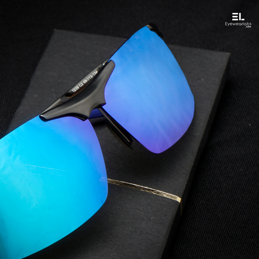 Wildfire Blue Gun Grey Eyewear - Eyewearlabs