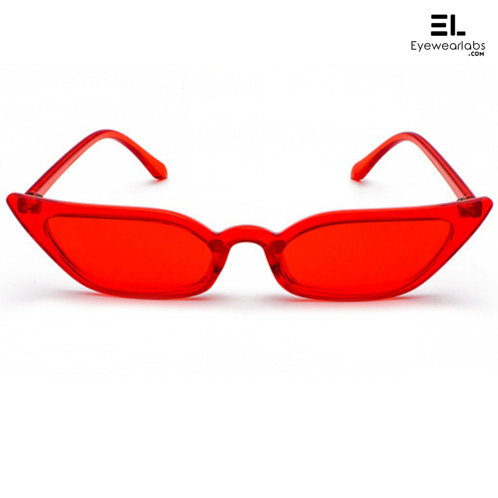 Donna Paulsen Red Sunglasses For Women - Eyewearlabs