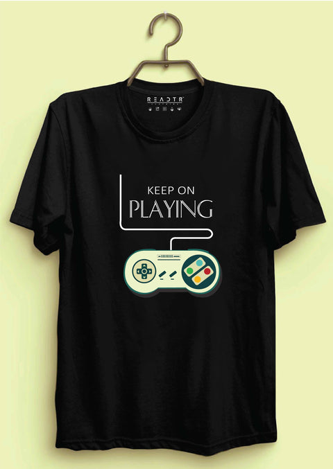 Keep On Playing Reactr Tshirts For Men - Eyewearlabs