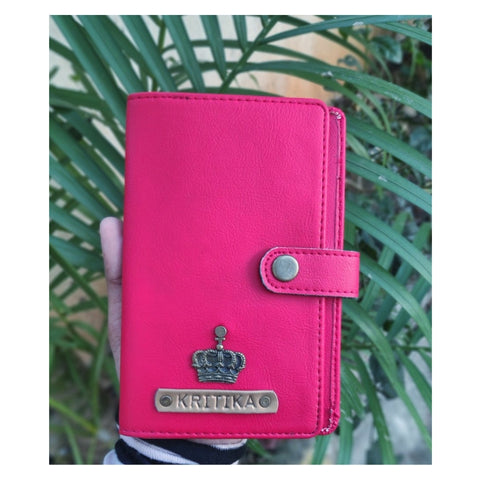 Pink Passport Cover (With Strap)