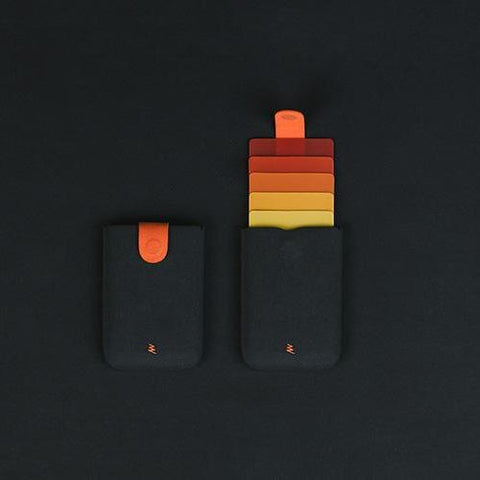 Reactr Bolt V2 Black and Orange Smart Card Holder