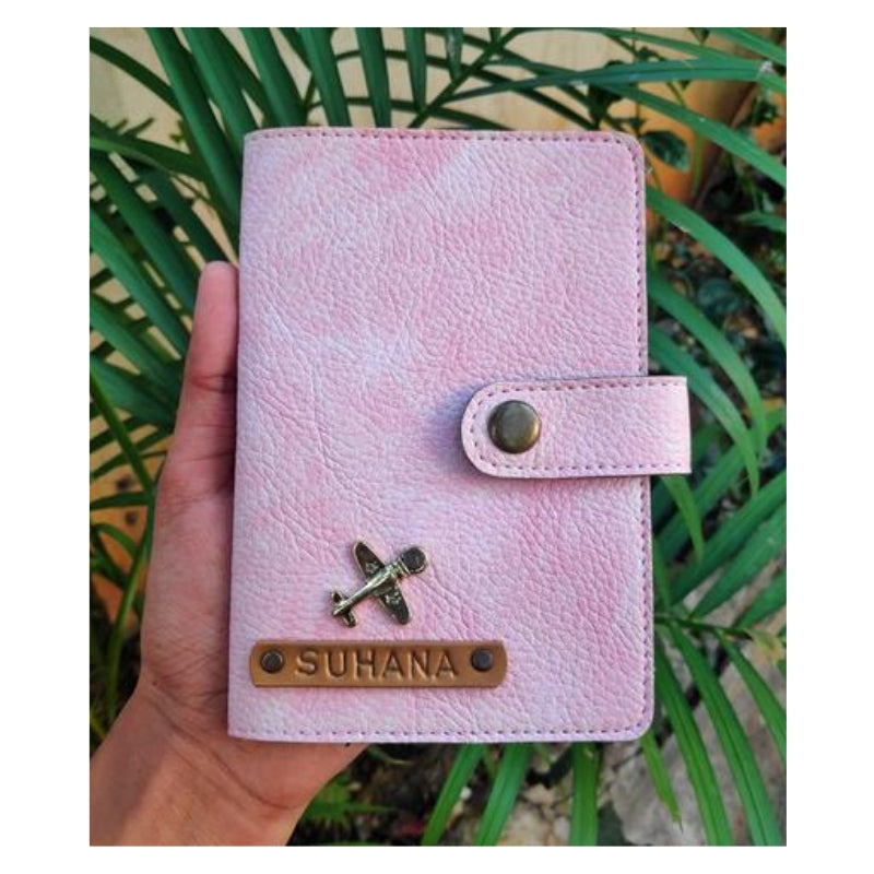 Baby Pink Passport Cover (With Strap) - Eyewearlabs