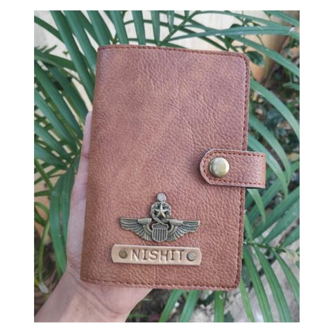 Tan Brown Passport Cover (With Strap)