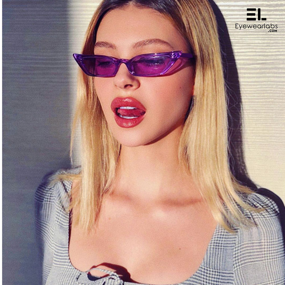 Donna Paulsen Purple Sunglasses For Women