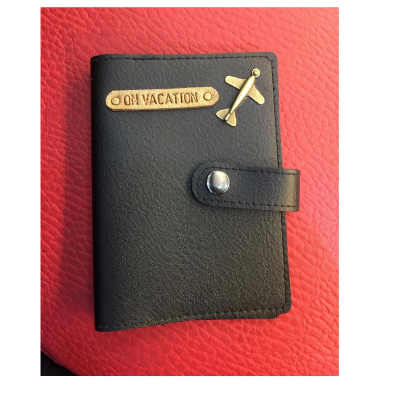 Black Passport Cover (With Strap) - Eyewearlabs