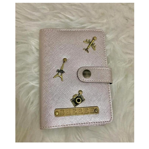 Silver Passport Cover (With Strap)